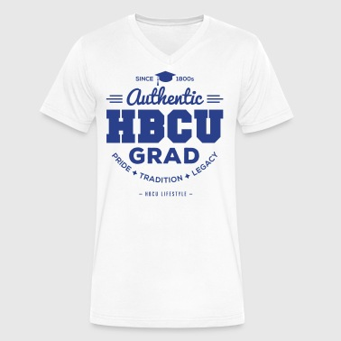 Authentic HBCU Grad - Men's V-Neck T-Shirt by Canvas