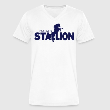 ITALIAN STALLION - Men's V-Neck T-Shirt by Canvas