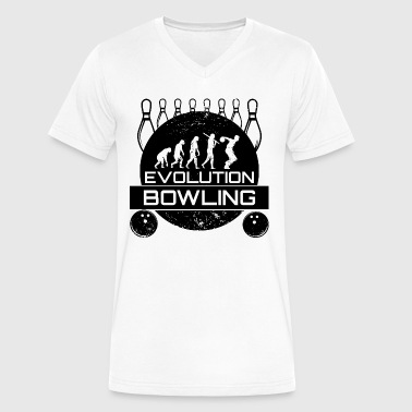 Evolution Bowling - Men's V-Neck T-Shirt by Canvas