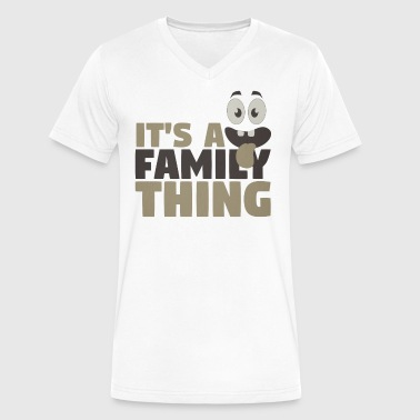 Family Fun Fun Family It s A Family Thing - Men's V-Neck T-Shirt by Canvas