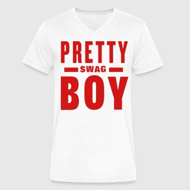 PRETTY BOY SWAG - Men's V-Neck T-Shirt by Canvas