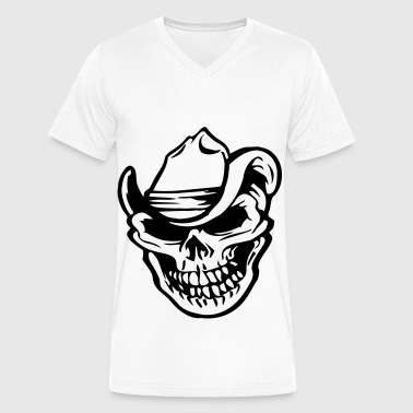 cowboy skull - Men's V-Neck T-Shirt by Canvas