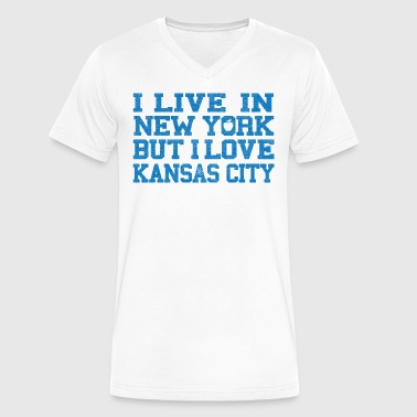 Live New York Love Kansas City - Men's V-Neck T-Shirt by Canvas