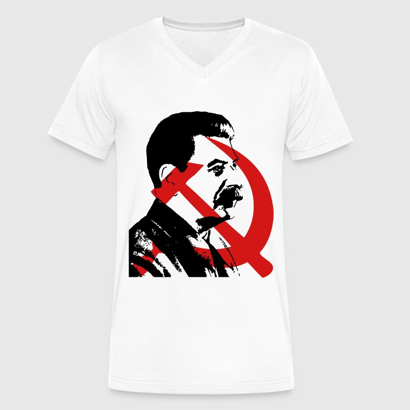 Stalin T-Shirts - Men's V-Neck T-Shirt by Canvas