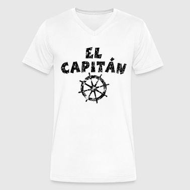 El Capitán Wheel Vintage/Black - Men's V-Neck T-Shirt by Canvas