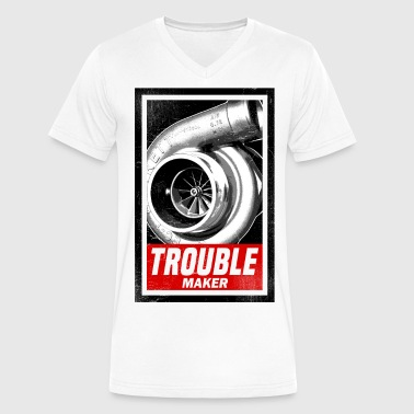 Street Race BOOST TROUBLE MAKER  - Men's V-Neck T-Shirt by Canvas