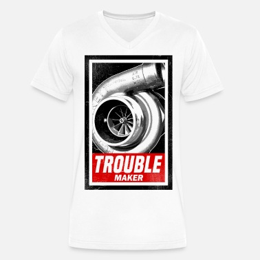 Tuning BOOST TROUBLE MAKER  - Men's V-Neck T-Shirt by Canvas