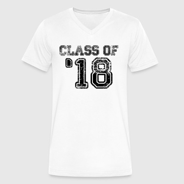 Class of 18 - student - 2018 -university - school - Men's V-Neck T-Shirt by Canvas