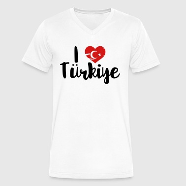 I Love Turk I love Türkiye - Men's V-Neck T-Shirt by Canvas