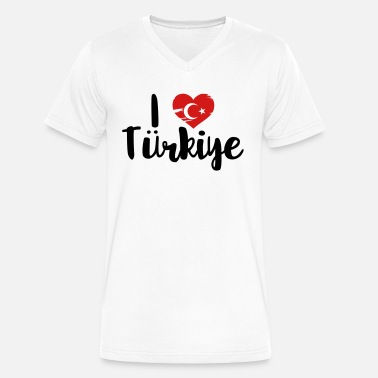Trabzon I love Türkiye - Men's V-Neck T-Shirt by Canvas