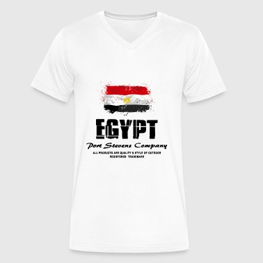 Egypt Flag Logo - Men's V-Neck T-Shirt by Canvas