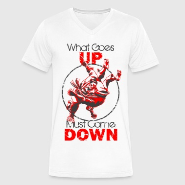 Judo - What Goes Up - Men's V-Neck T-Shirt by Canvas