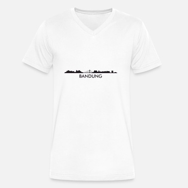 Bandung Bandung Indonesia Skyline - Men's V-Neck T-Shirt by Canvas