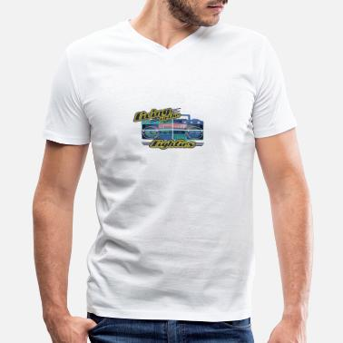 80s Party retro 80s party 03 - Men's V-Neck T-Shirt by Canvas