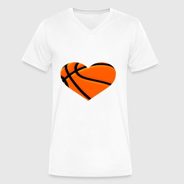 Basketball HEART - Men's V-Neck T-Shirt by Canvas