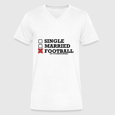 Single Married Single - Married - Football - Men's V-Neck T-Shirt by Canvas