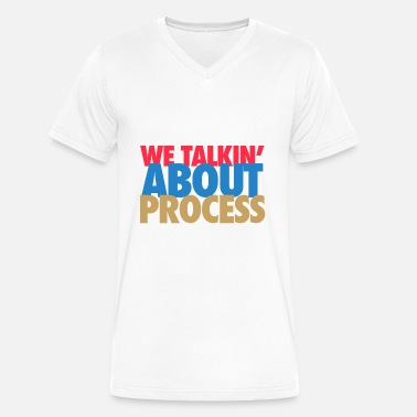 Philadelphia Sixers 76ers we taling about process - Men's V-Neck T-Shirt by Canvas