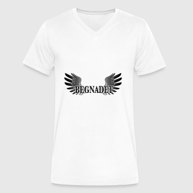 gifted Angelwings - Men's V-Neck T-Shirt by Canvas