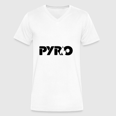 Awful House Pyro (Black) - Men's V-Neck T-Shirt by Canvas