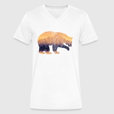 Bear Mountain - Men's V-Neck T-Shirt by Canvas