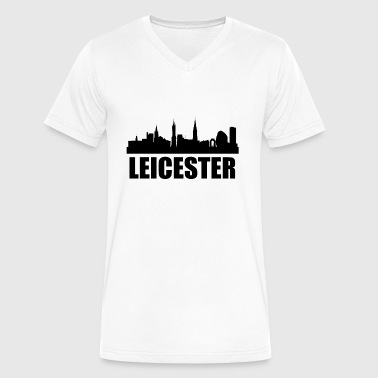 Leicester City Leicester Skyline - Men's V-Neck T-Shirt by Canvas
