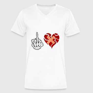 Fvck Love - Men's V-Neck T-Shirt by Canvas