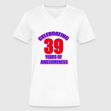 39th birthday design - Men's V-Neck T-Shirt by Canvas