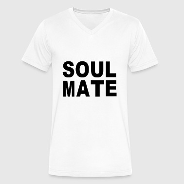 Soulmate Soulmate - Men's V-Neck T-Shirt by Canvas