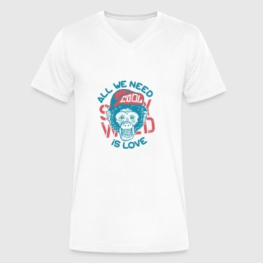 monkey cool - Men's V-Neck T-Shirt by Canvas