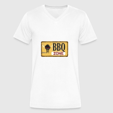 Bbq Adult BBQ Zone - Men's V-Neck T-Shirt by Canvas