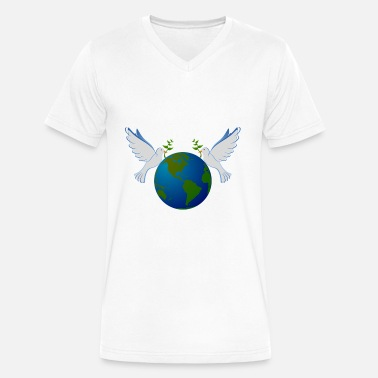 World Animal Protection Pigeons protect the world? - Men's V-Neck T-Shirt by Canvas