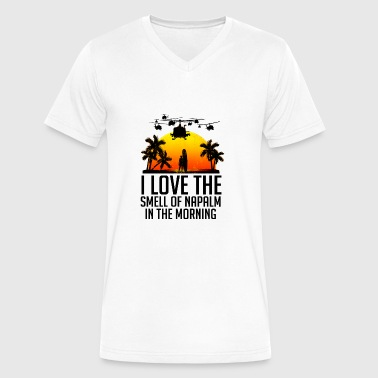 I Love The Smell Of Napalm In The Morning I LOVE THE SMELL OF MOVIE REFERENCES IN THE MORNIN - Men's V-Neck T-Shirt by Canvas