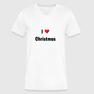 I Heart Christmas I love Christmas with heart - Men's V-Neck T-Shirt by Canvas