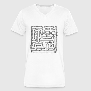 Man In The Maze maze runner - Men's V-Neck T-Shirt by Canvas