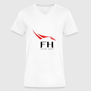 SpaceX Falcon Heavy logo - Men's V-Neck T-Shirt by Canvas