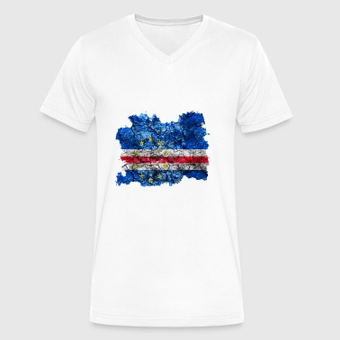 Cabo Verde Vintage Flag - Men's V-Neck T-Shirt by Canvas