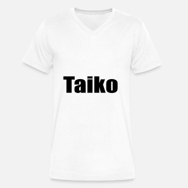 Taiko taiko - Men's V-Neck T-Shirt by Canvas