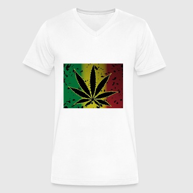 Ganja Breed - Men's V-Neck T-Shirt by Canvas