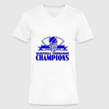 GIFT - BASKETBALL CHAMPIONS BLUE - Men's V-Neck T-Shirt by Canvas