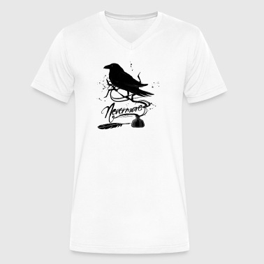 Black Crows The Black Crow - Men's V-Neck T-Shirt by Canvas