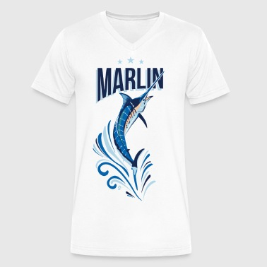 AD Marlin - Men's V-Neck T-Shirt by Canvas