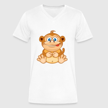 Zoo Animals Animal-zoo-wildlife-monkey - Men's V-Neck T-Shirt by Canvas