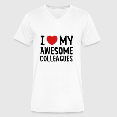 I Love (Heart) My Awesome Colleagues - Men's V-Neck T-Shirt by Canvas