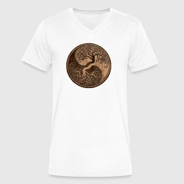 Tree of Life Yin Yang - Men's V-Neck T-Shirt by Canvas