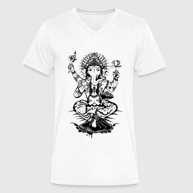 Ganesh, a god with an elephant head  - Men's V-Neck T-Shirt by Canvas