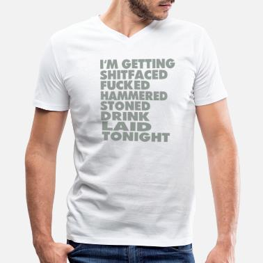 Marry Fuck Kill I'm Getting Shitfaced - Men's V-Neck T-Shirt by Canvas