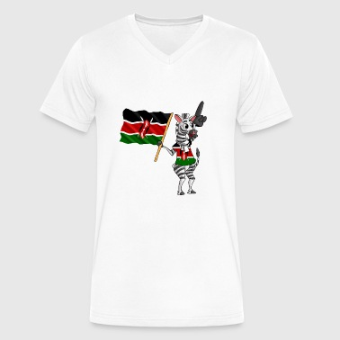 A Kenyan Zebra - Men's V-Neck T-Shirt by Canvas