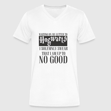 Swear I SOLEMNLY SWEAR THAT I AM UP TO NO GOOD - Men's V-Neck T-Shirt by Canvas