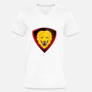 Lion Dog lion - Men's V-Neck T-Shirt by Canvas