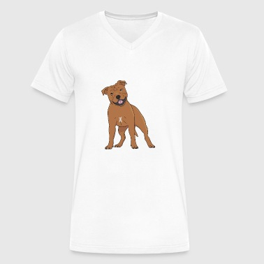 Staffordshire Terrier Gift Staffordshire Bull Terrier - Men's V-Neck T-Shirt by Canvas
